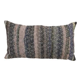 Woven Striped Rag Rug Pillow