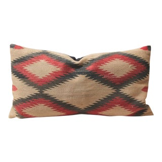 Large Early Navajo Indian Weaving Eye Dazzler Pillow
