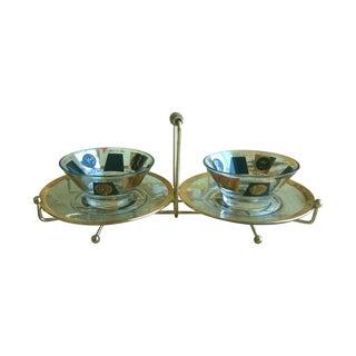 Hollywood Regency Plate & Caddy Set