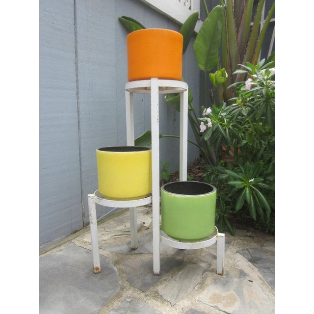 Modernist Plant Stand + California Pot Set Planter - Image 6 of 6