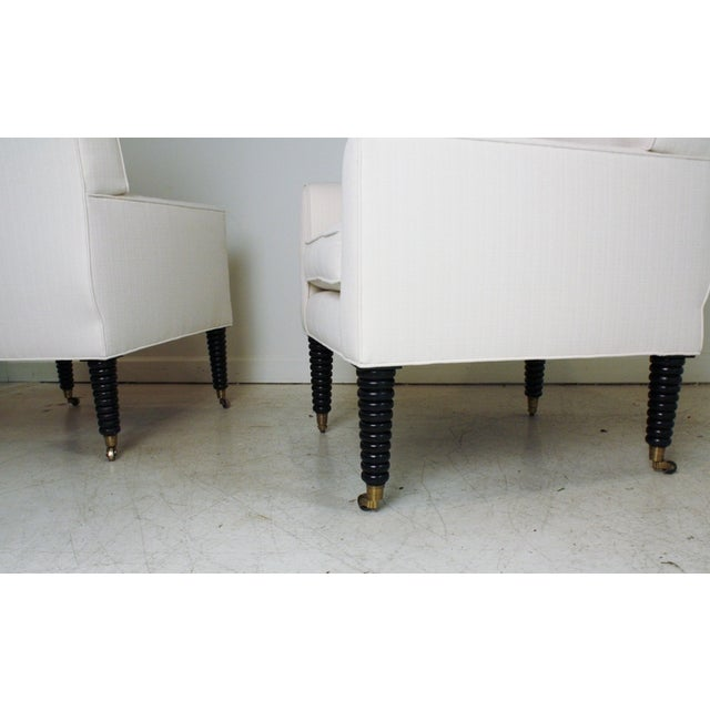 Image of Ralph Lauren White Club Chairs - A Pair