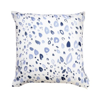 """Grey Petals Linen Pillow - 16"""" X 20"""""""