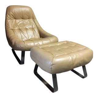Percival Lafer Earth Chair & Ottoman - A Pair