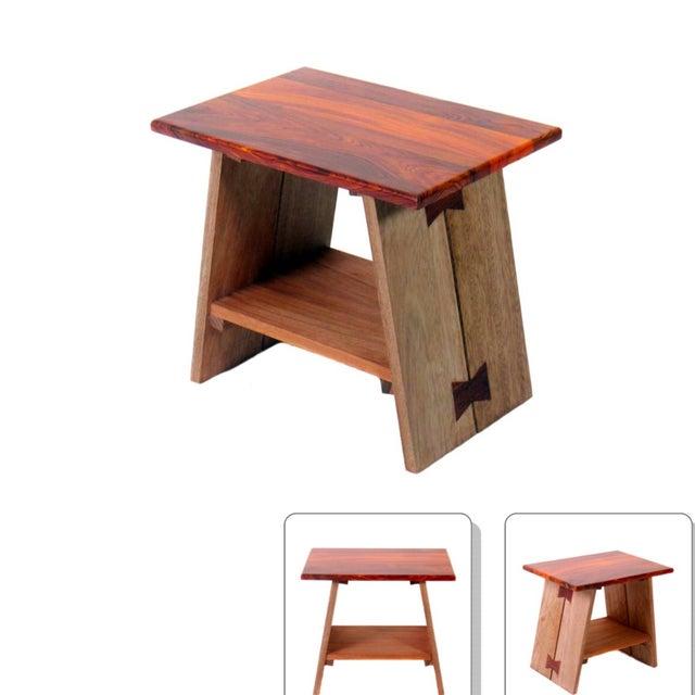 Chi Exotic Wood Stool - Image 4 of 6