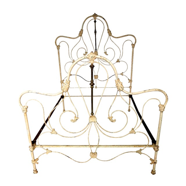 Classic Victorian Wrought Iron Bed - Image 1 of 7