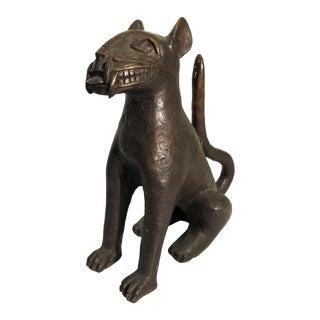 Bronze Cat Sculpture