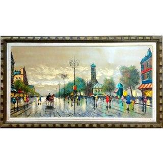 Carlo Of Hollywood Paris Street Scene Oil Painting