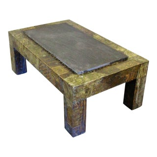 Paul Evans Slate Top Patchwork Coffee Table