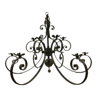 Wrought Iron Candelabra Forged in Morocco