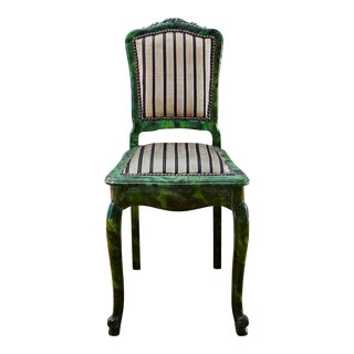 19th Century Green Lacquered Desk Chair