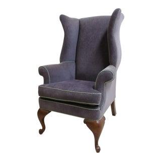Vintage Purple Wingback Chair