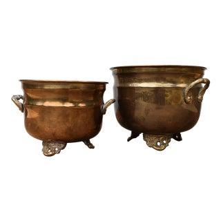 Vintage Brass Bowls - A Pair