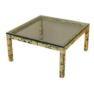 Silas Seandel Textured Gilt Steel Coffee Table