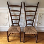 Image of Rare Italian Vintner Chairs - A Pair