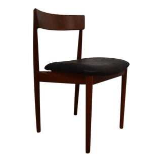 Teak & Black Leather Desk Chair