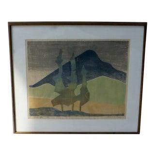 Robert Grady Desert Landscape Abstract Print