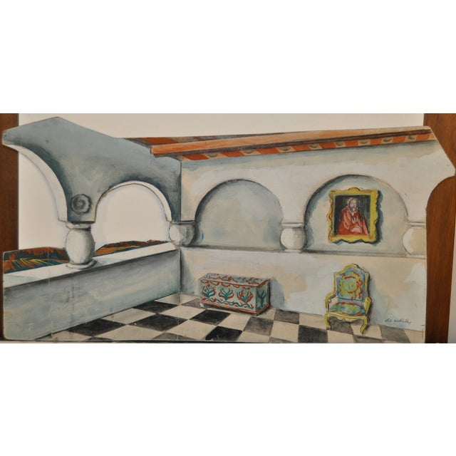 1940's Modern Set Design Painting by F.D. Erdely - Image 4 of 5