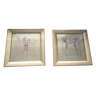 Modern Dancing Figures - Pair