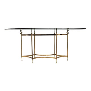 Brass & Glass Dining Table