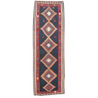 Antique Azeri Kilim Runner