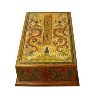 Chinese Golden Orange Yellow Dragon Graphic Rectangular Box