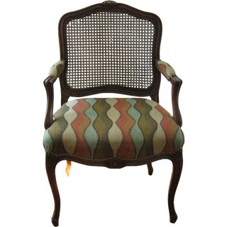 Louis Style Carved Walnut Armchair