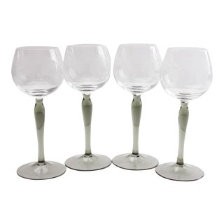 French Etched Stemware - Set of 4