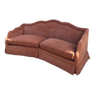 Custom Camelback Velvet Sofa