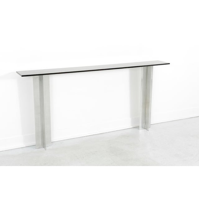 Pace Smoked Glass Console Table - Image 3 of 6