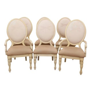 Dragonfly Oval Back Dining Chairs, S/6