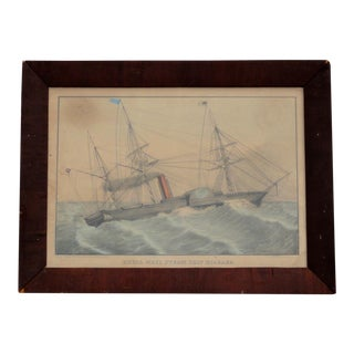 1850 Royal Mail Steamship Niagara Lithograph