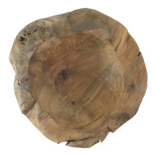 Sculptural Carved Wooden Bowl