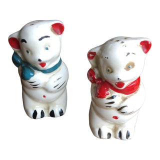 Bear-Butt Vintage Salt & Pepper Shakers - A Pair