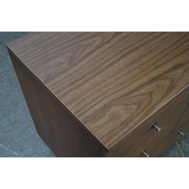 Stanley Mid Century Modern Walnut Paul McCobb Style Dresser - Image 7 of 10