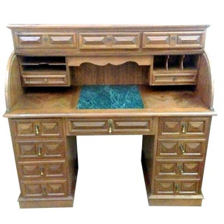 Vintage Oak Roll Top Desk