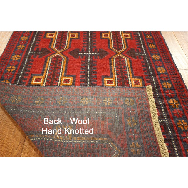 """Persian Balouch Hand Made Wool Rug - 3'5"""" x 6'4"""" - Image 3 of 3"""