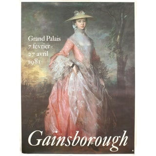Thomas Gainsborough Grand Palais Exhibition Poster, 1981