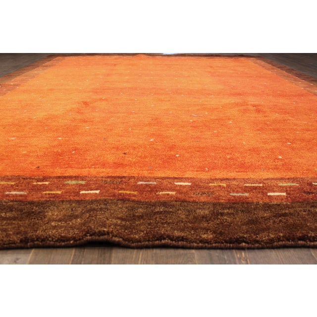 """Hand-Knotted Gabbeh Wool Rug - 7'8"""" x 9'5"""" - Image 2 of 5"""
