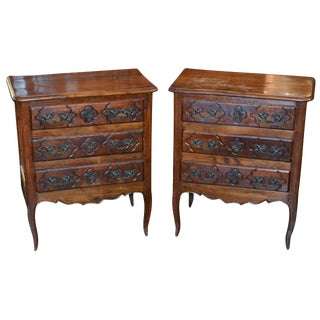 Pair 18th C. French Provincial Side Tables
