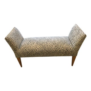 Black and Cream Animal Print Bench