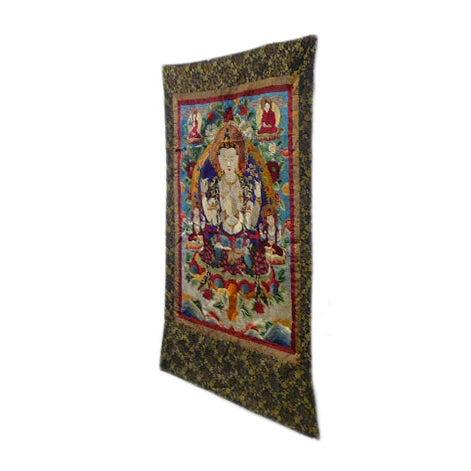 Embroidery Tibetan Tara Buddha Thangka Art - Image 2 of 10