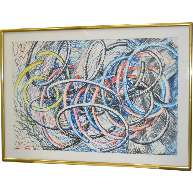 Image of Dennis Croteau Mixed Media Abstract C.1980's