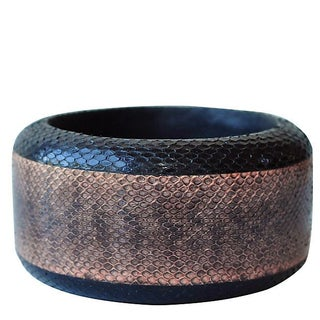 Two-tone Snakeskin Bangle