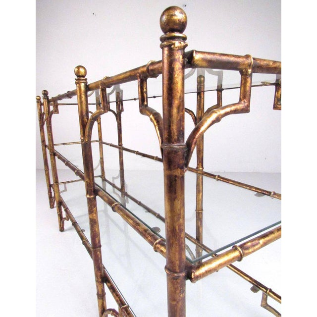 Faux Bamboo Gilt Console Table - Image 5 of 7