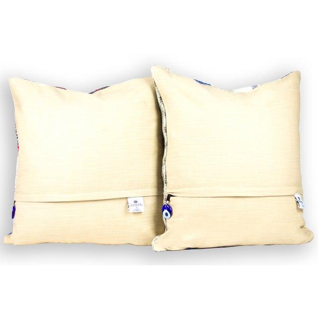 "Turkish Kilim 20"" Pillows - A Pair - Image 3 of 3"