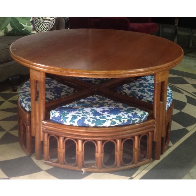 1940's Bamboo Game Table Dining Set - Image 4 of 8