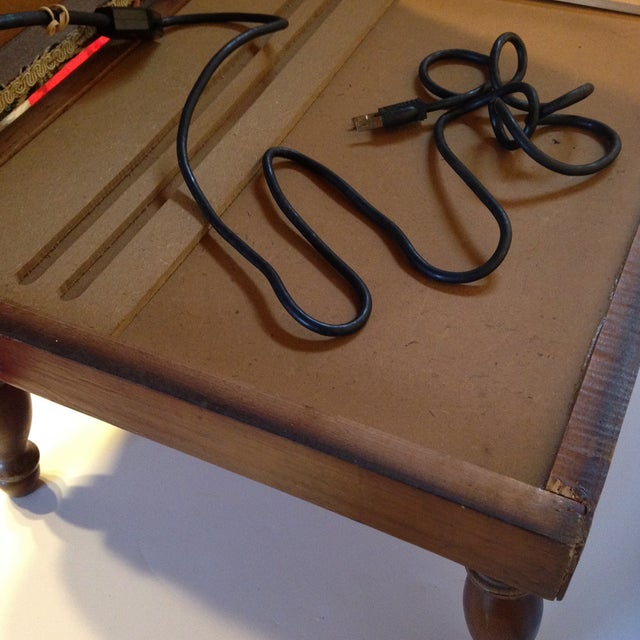 Vintage Electric Warming Ottoman - Image 4 of 4