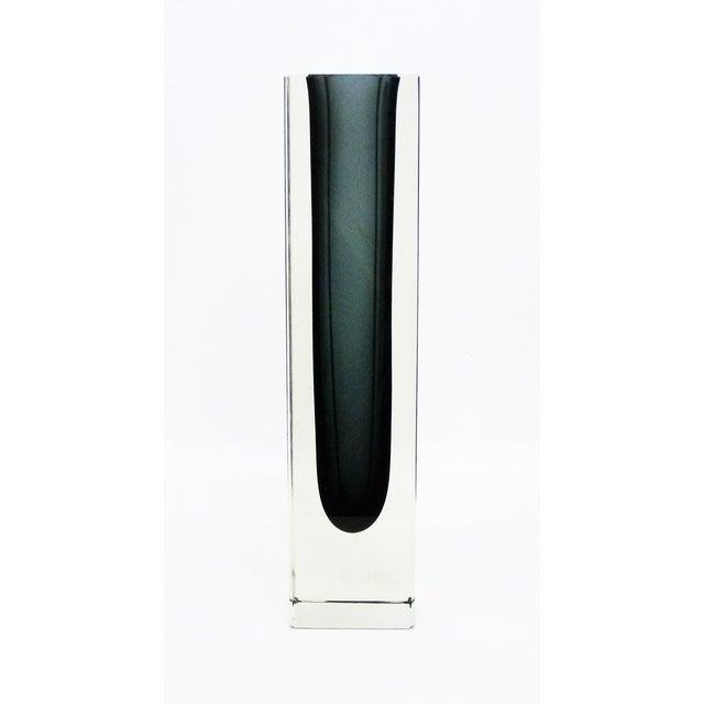 Italian Mandruzzato Murano Mid-Century Modern Gray Glass Vase MCM - Image 11 of 11
