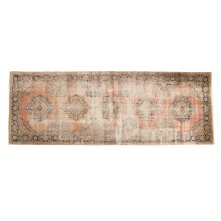 "Vintage Distressed Oushak Rug Runner - 4'11"" x 13'6"""