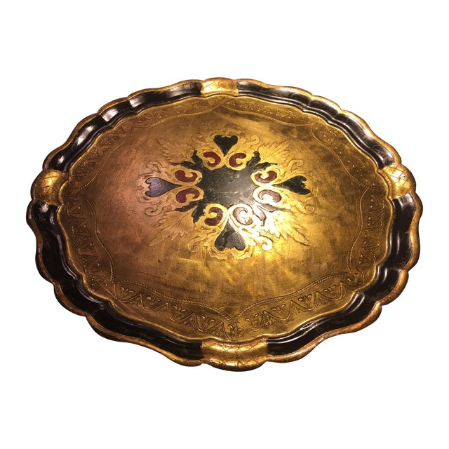 Florentine Round Gilt Tray - Image 1 of 6